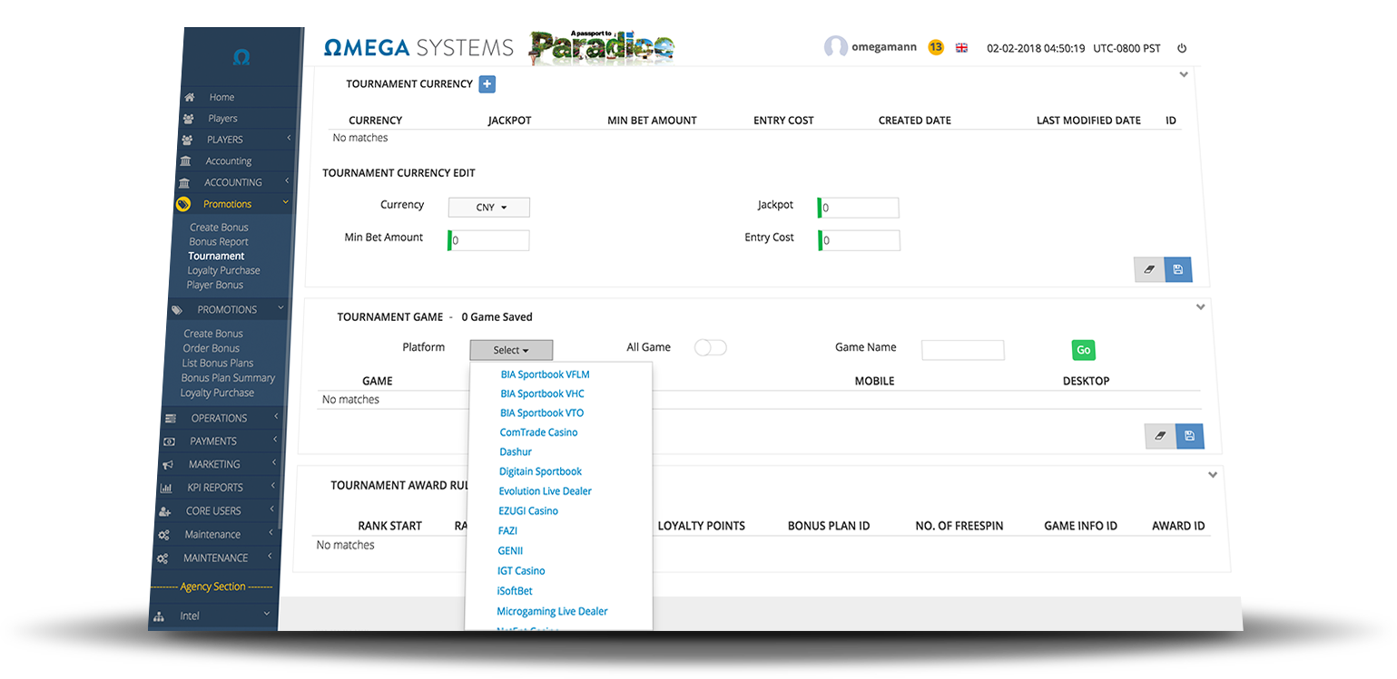 OMEGA Systems - Cross Platform Game Participation